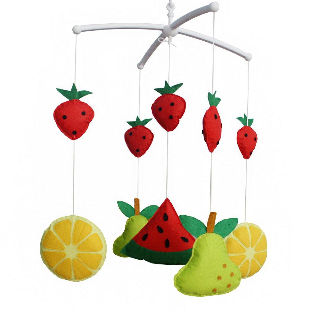 BC-BAB-ONIM0024-WING-CELI [Sweet Fruit] Handmade Toy Box Musical Baby Crib Mobile