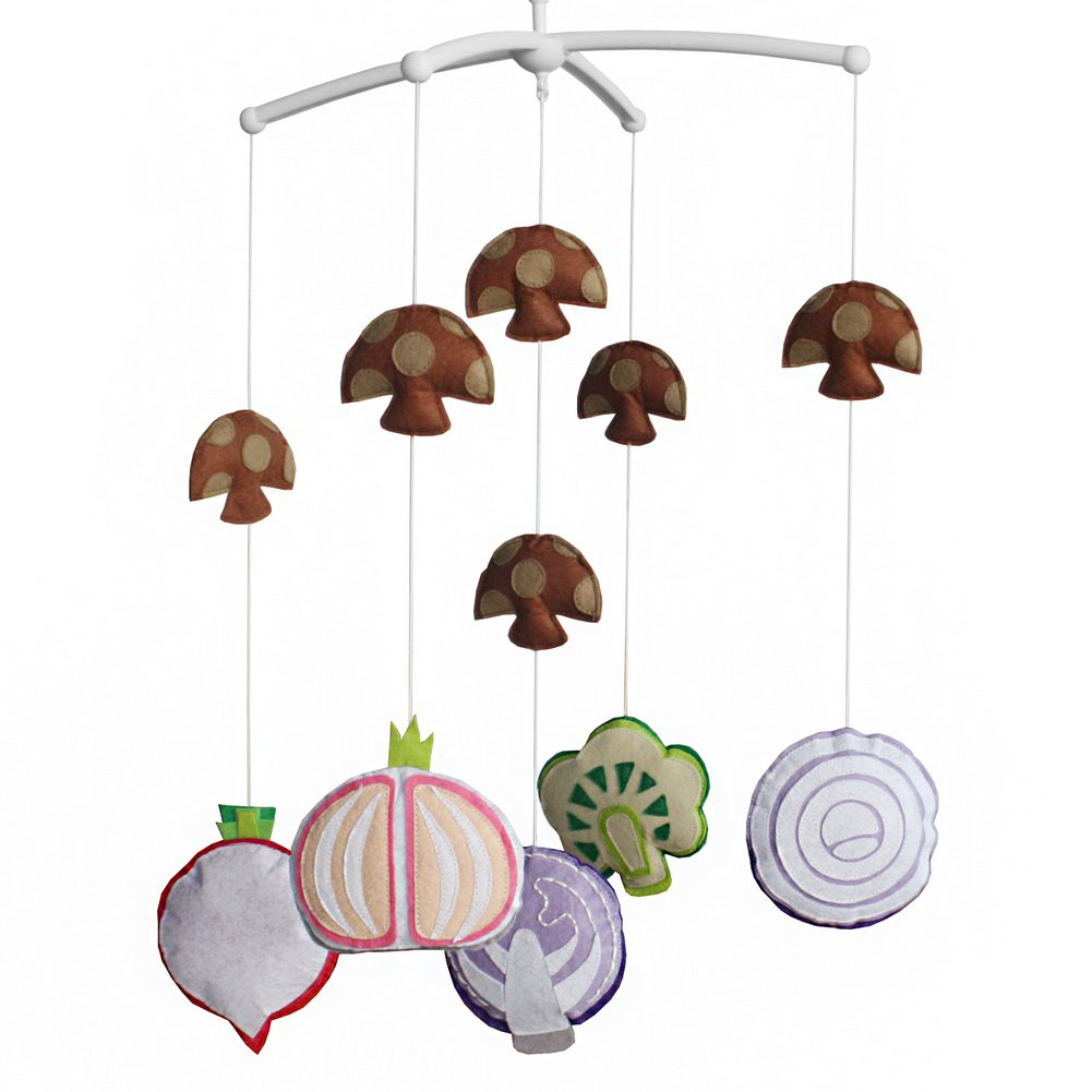 BC-BAB-ONIM0031-BELL-CELI [Fresh Vegetables] Baby Crib Mobile Rotate Hanging Mobile