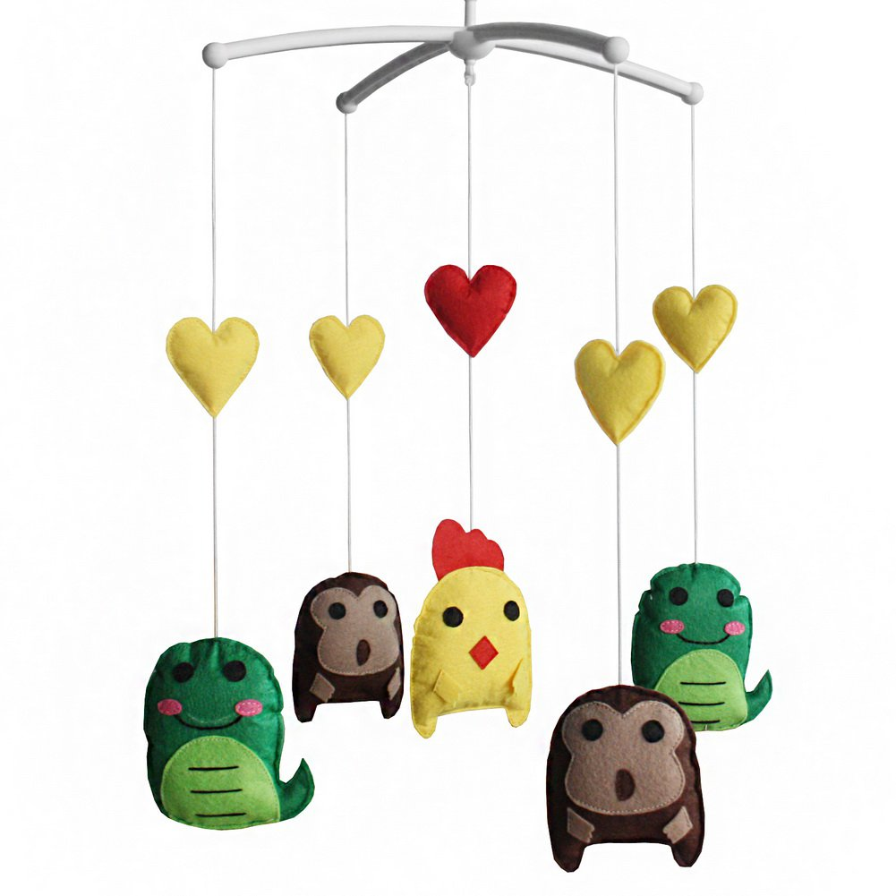 BC-BAB-ONIM0032-WING-CELI [Cartoon Animals] Baby Bed Hanging Bell Mobile Musical Crib Mobile