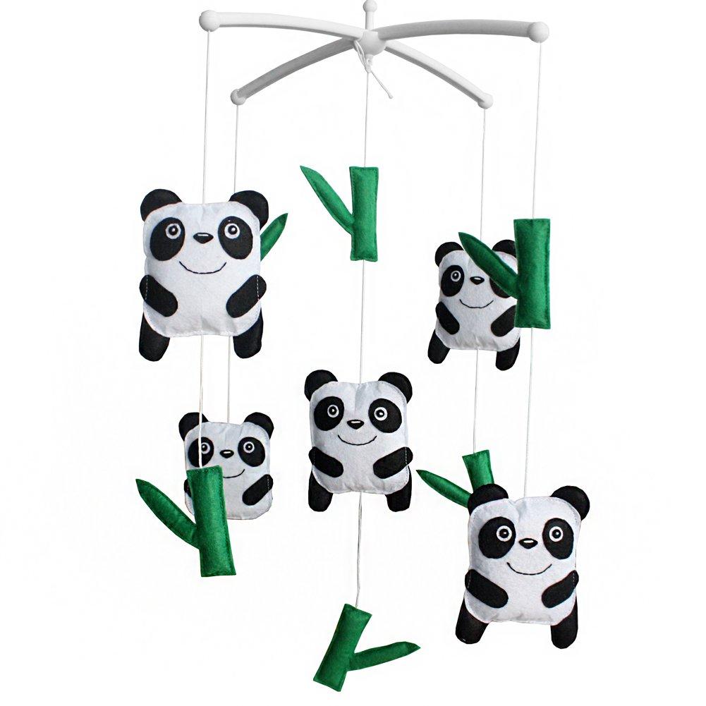BC-BAB-ONIM0033-BELL-EMMA Baby Musical Toys Crib Dreams Mobile Crib Hanging Bell Panda