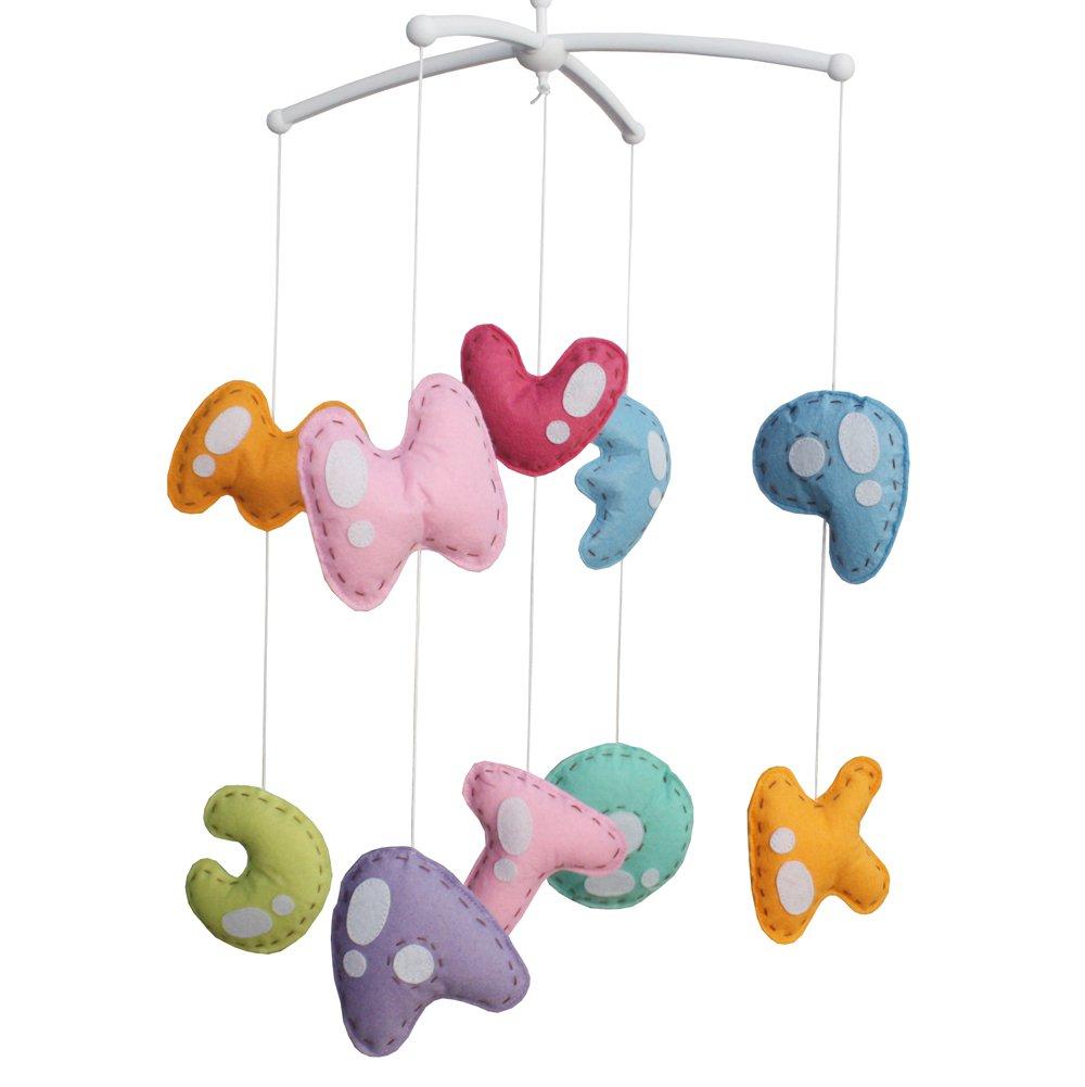 BC-BAB-ONIM0040-BELL-EMMA [Letter] Handmade Baby Crib Musical Toys Crib Hanging Bell