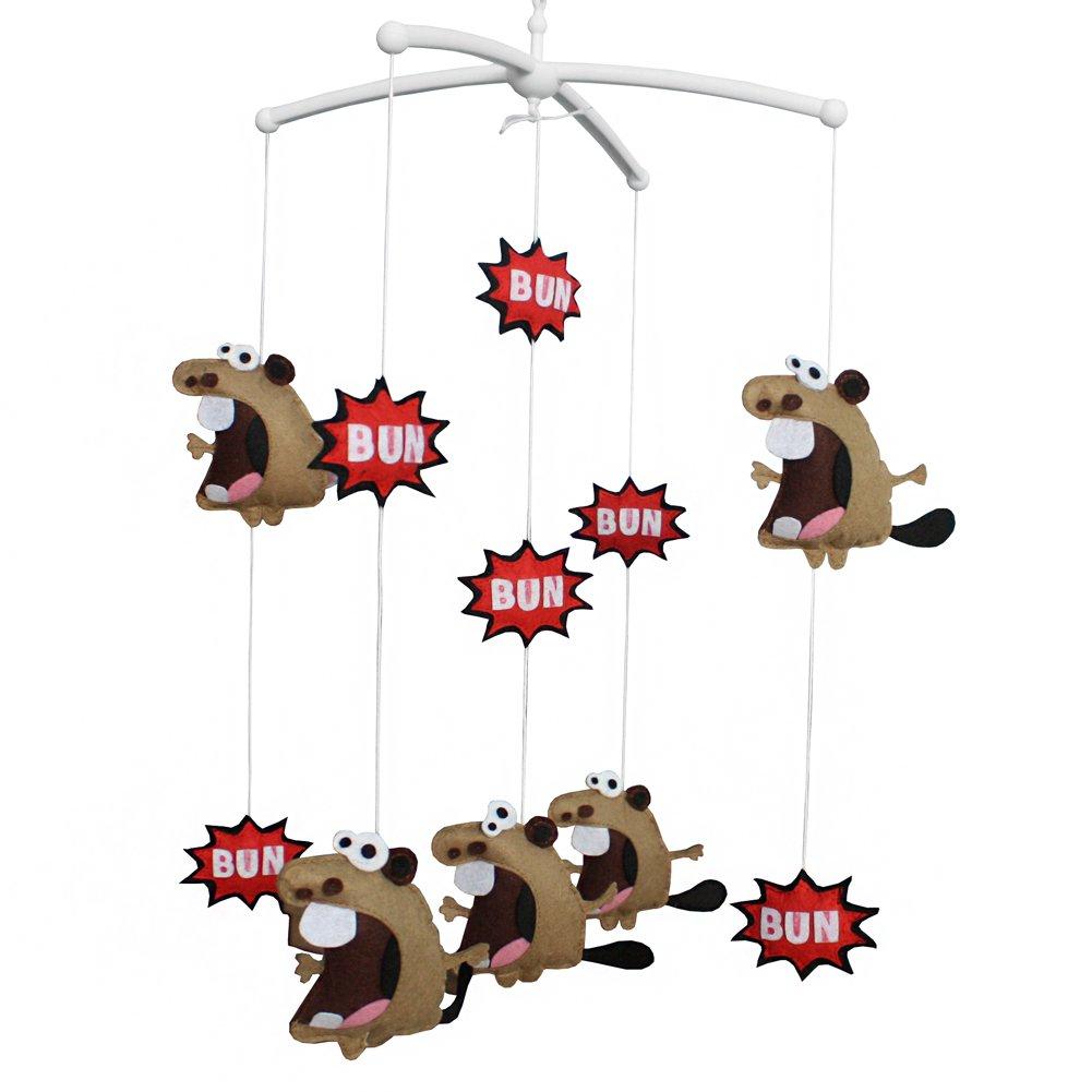 BC-BAB-ONIM0041-BELL-EMMA Handmade Baby Crib Musical Toys Crib Hanging Bell Bun