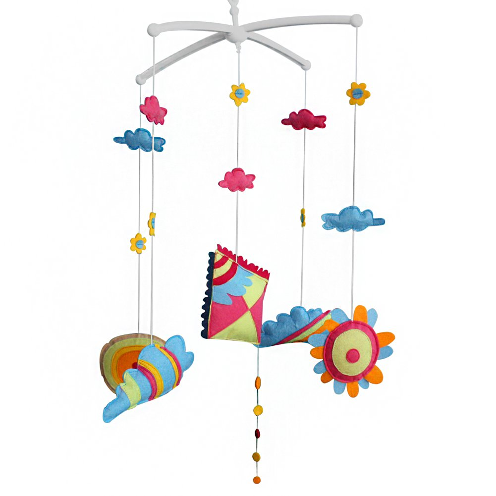 BC-BAB-ONIM0044-BELL-EMMA [Kite] Creative Crib Mobile Infant Bed Hanging Bell Crib Decoration