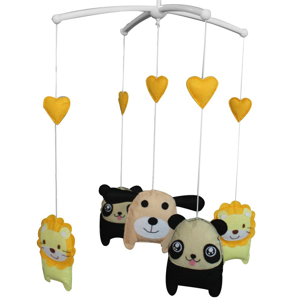 BC-BAB-ONIM0053-WING-CELI Cute Animals Hanging Bell Mobile Baby Bed Musical Crib Mobile