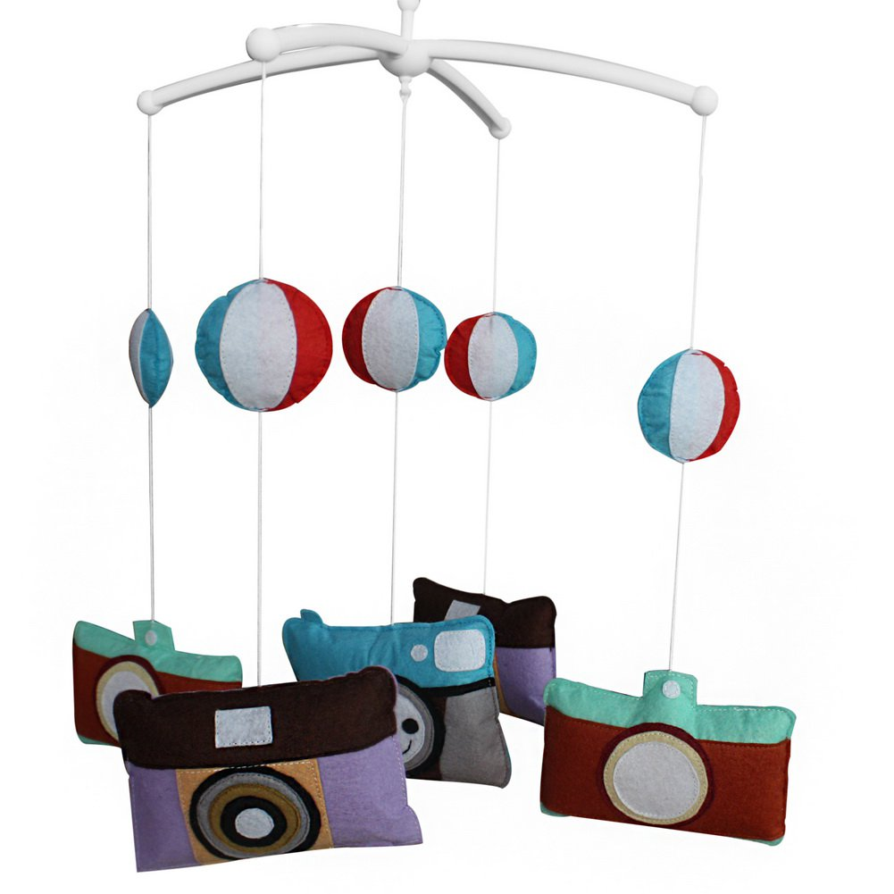 BC-BAB-ONIM0055-WING-CELI Hanging Bell Mobile [Cameras] Baby Bed Musical Crib Mobile