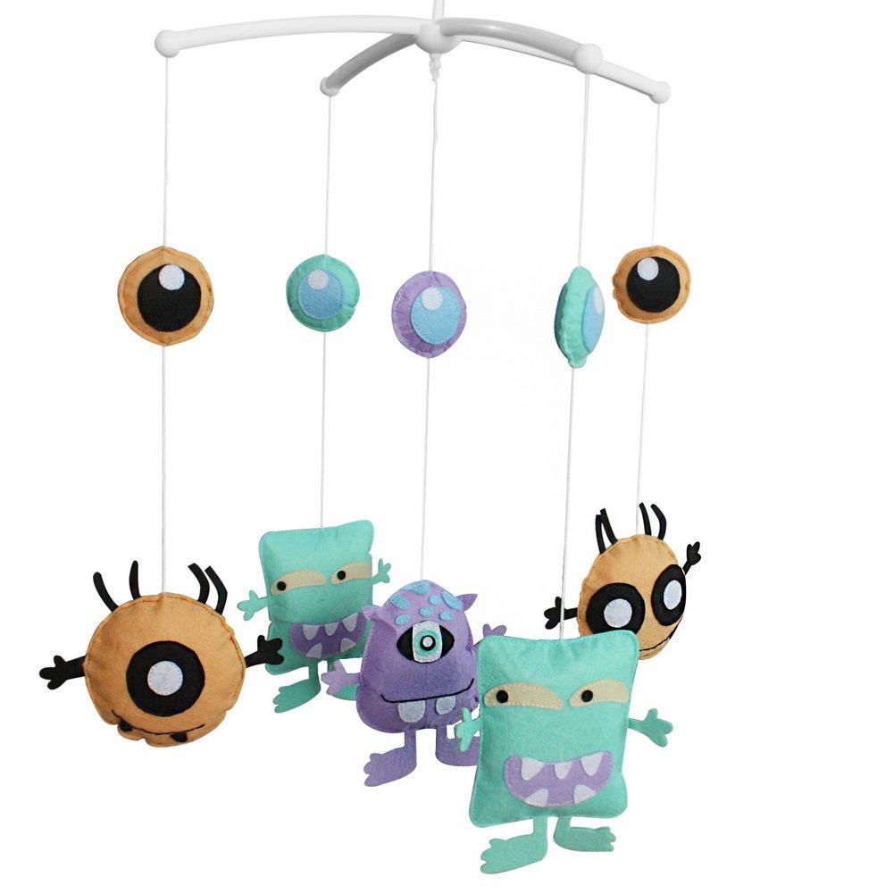 BC-BAB-ONIM0056-WING-CELI Creative Hanging Bell Mobile Handmade Baby Bed Musical Crib Mobile