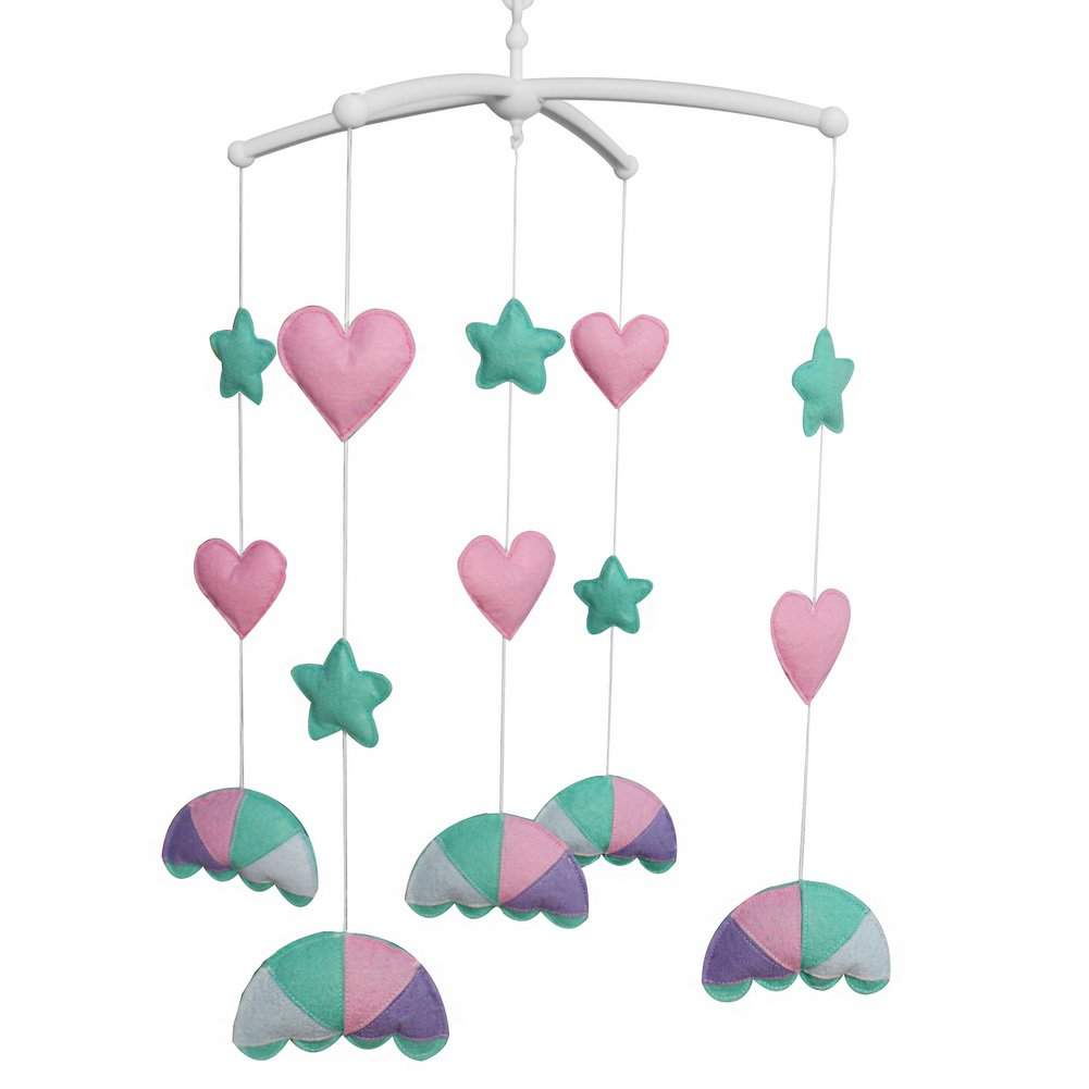 BC-BAB-ONIM0057-BELL-CELI Musical Crib Mobile for Baby Beautiful Handmade Hanging Bell Mobile