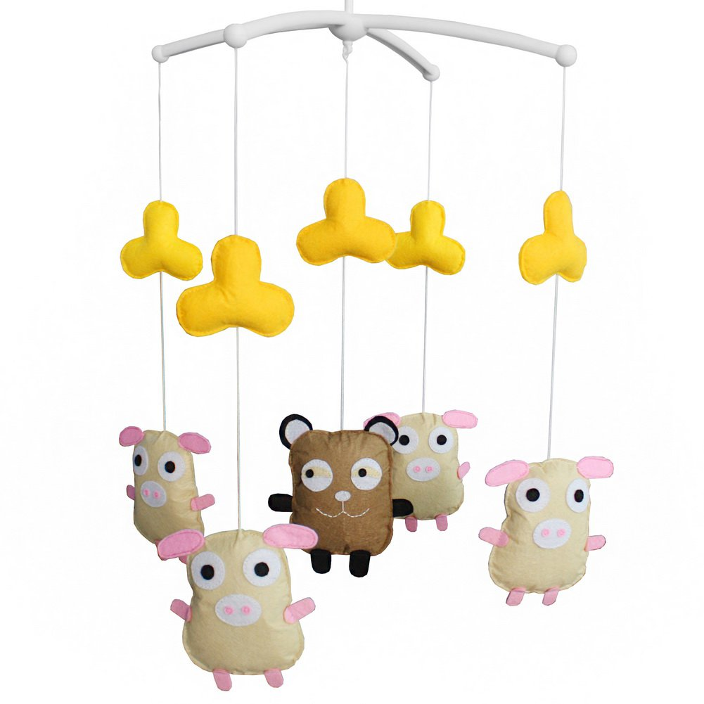 BC-BAB-ONIM0058-WING-CELI Creative Musical Crib Mobile for Baby Customised Hanging Bell Mobile