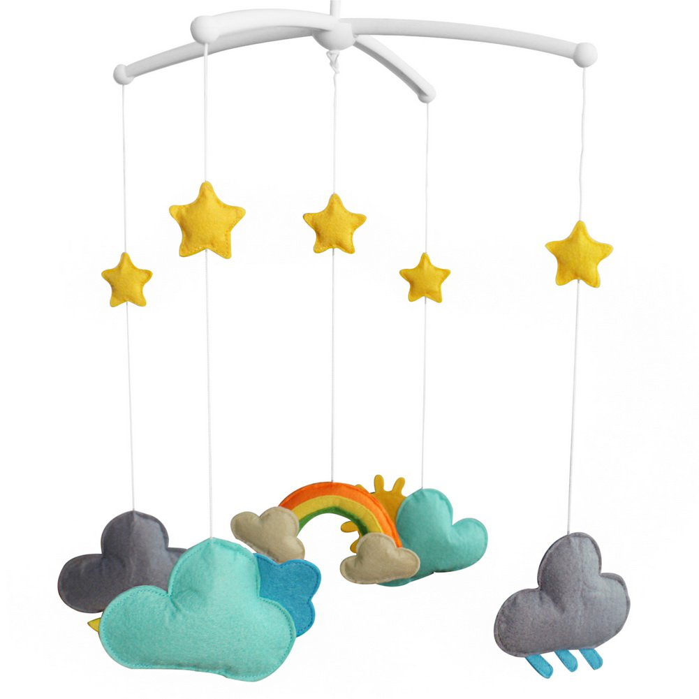 BC-BAB-ONIM0060-WING-CELI Handmade Baby Bedding Musical Mobile Infant Hanging Musical Mobile