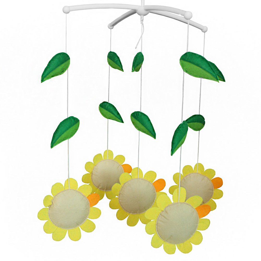 BC-BAB-ONIM0065-BELL-CELI [Sunflower] Creative Toddler Rotate Crib Musical Mobile