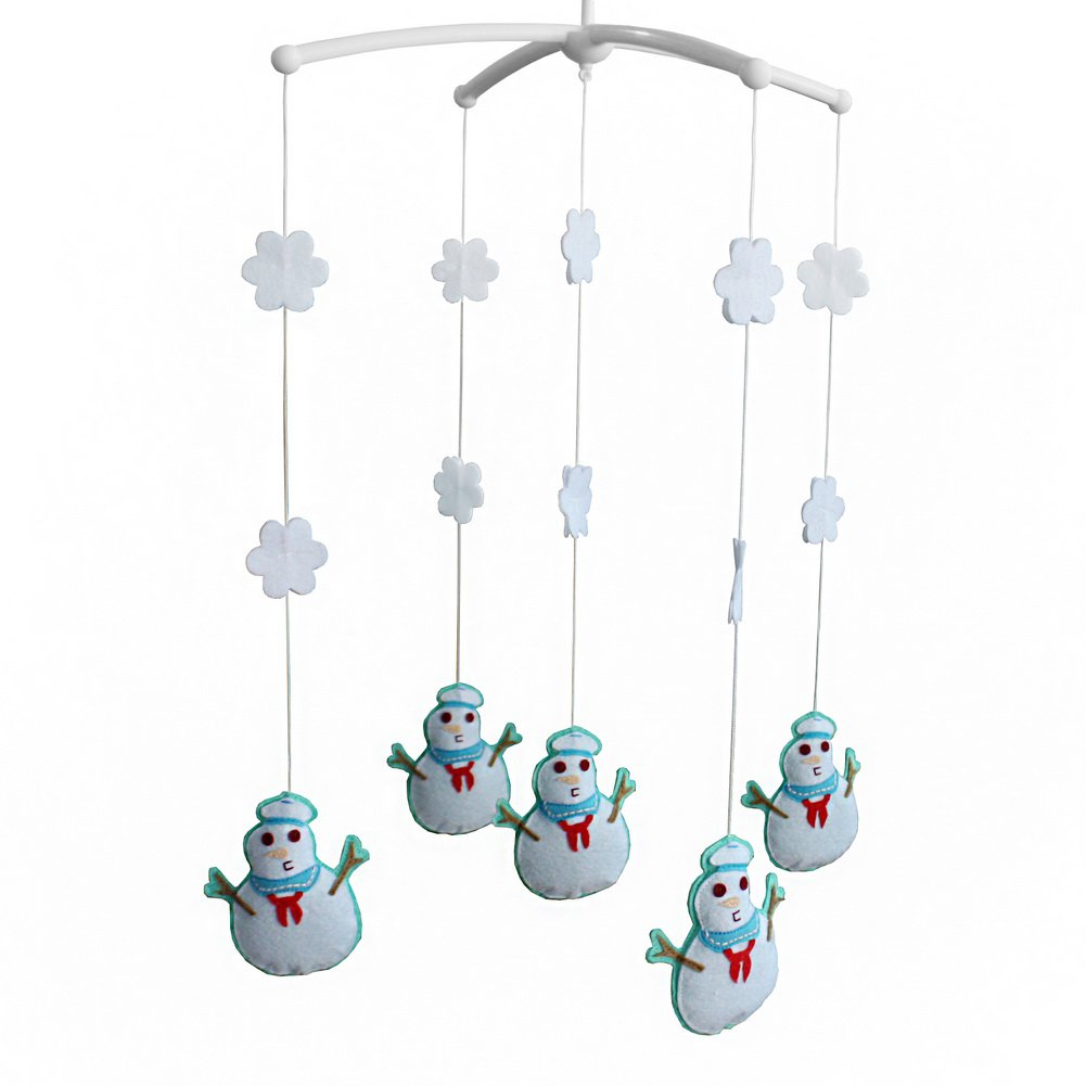 BC-BAB-ONIM0071-BELL-CELI [Snowman] Baby Infant Musical Mobile Bed Crib Hanging Rotating Bell