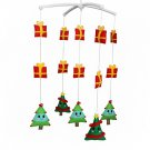 BC-BAB-ONIM0073-BELL-CELI Handmade Cute Crib Hanging Rotating Bell Christmas Tree Musical Mobile