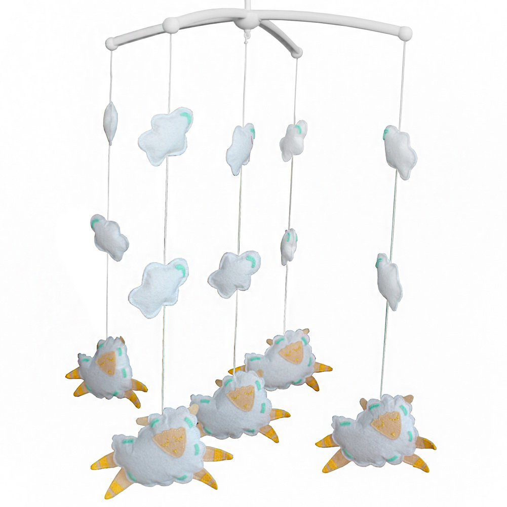 BC-BAB-ONIM0074-BELL-CELI Cute Crib Hanging Rotating Musical Mobile [Lovely Sheep]