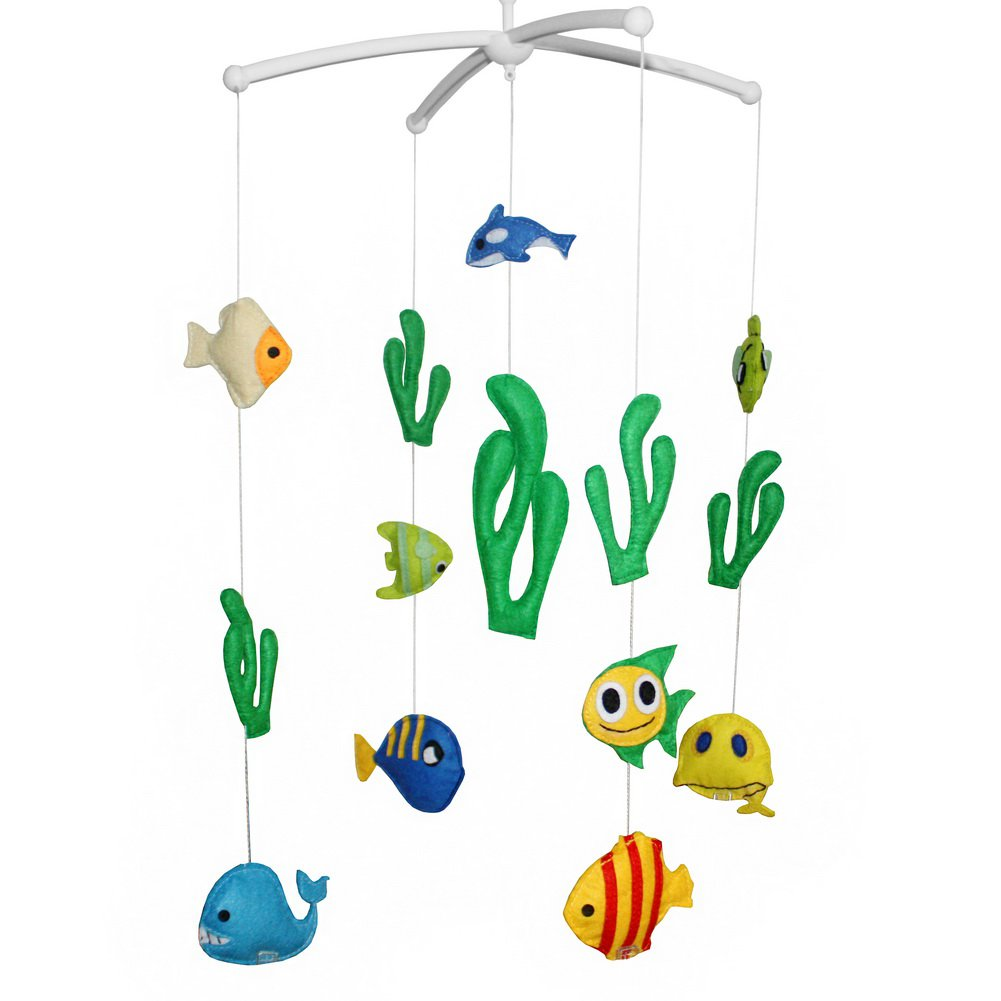 BC-BAB-ONIM0080-ELSA-CELI [Under the Sea] Rotate Bed Bell for Baby Musical Crib Mobile