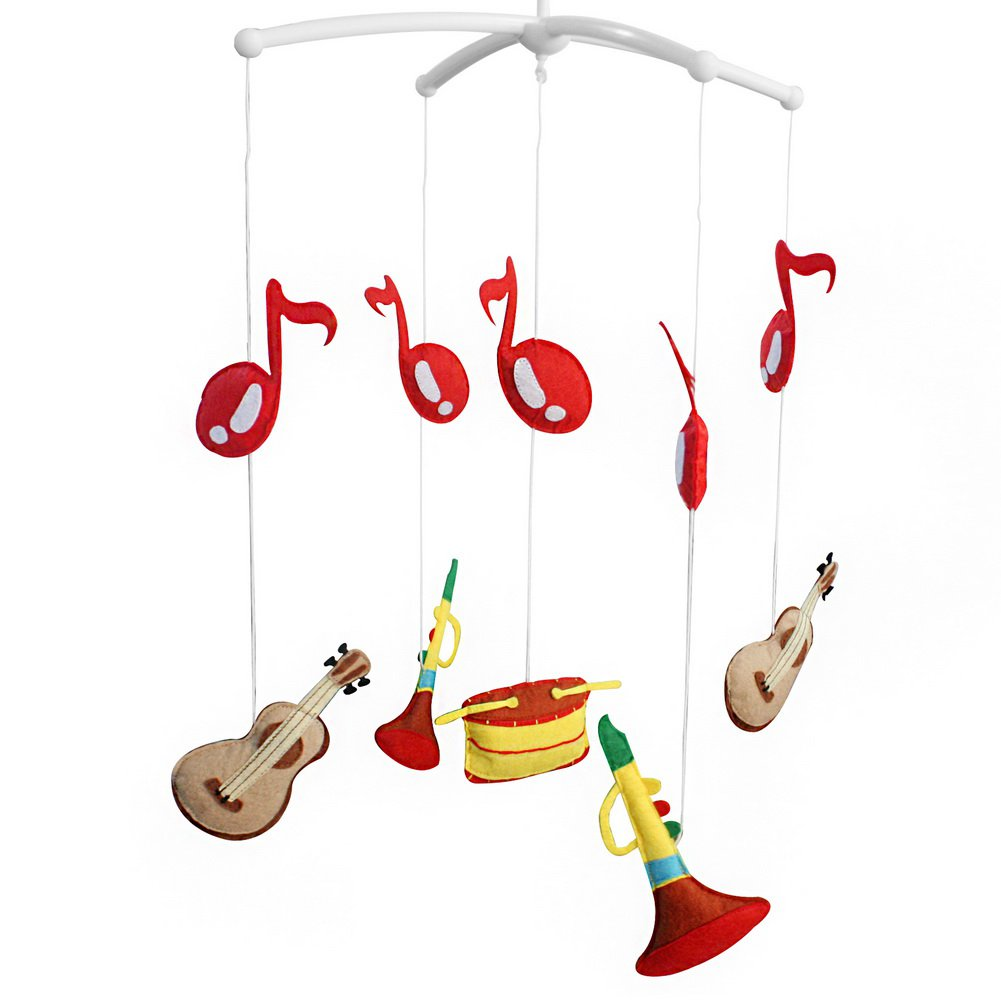 BC-BAB-ONIM0087-WING-CELI [Musical Instruments] Lovely Rotate Bed Toy Baby Crib Bell Mobile