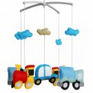 BC-BAB-ONIM0093-WING-CELI Musical Mobile Baby Crib Rotatable Cute Cartoon Vehicles Bed Bell