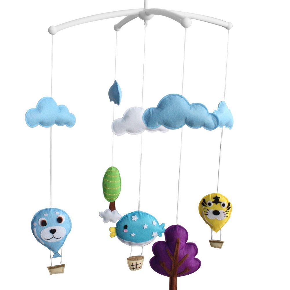 BC-BAB-ONIM0099-WING-CELI [Hot-air Balloon] Unisex Baby Crib Stroller Car Seat Rotatable Mobile