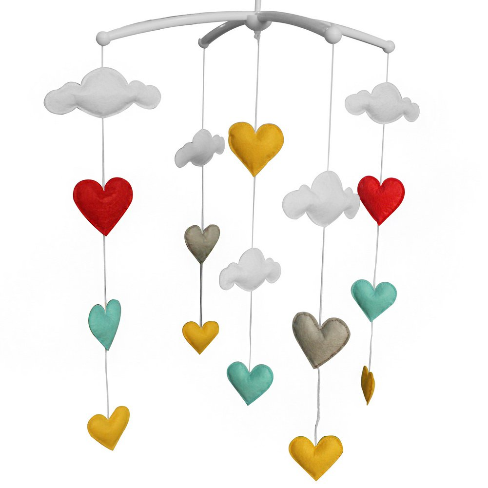 BC-BAB-ONIM0118-ELSA-CELI Colorful Baby Toys [Sweet Dream] Baby Crib Rotatable Bed Bell