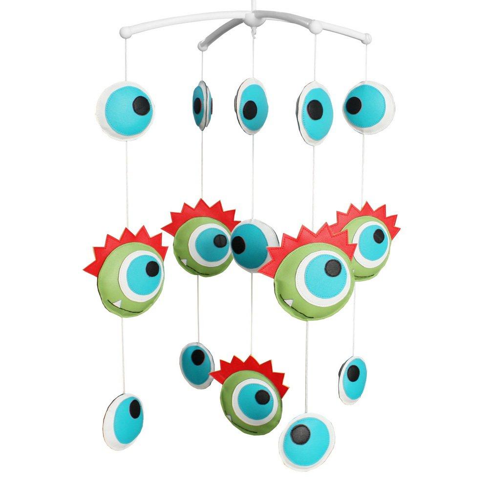BC-BAB-ONIM0127-BELL-CELI Handmade PU Toys Crib Rotatable Mobile Nursery Mobiles [Eyes]
