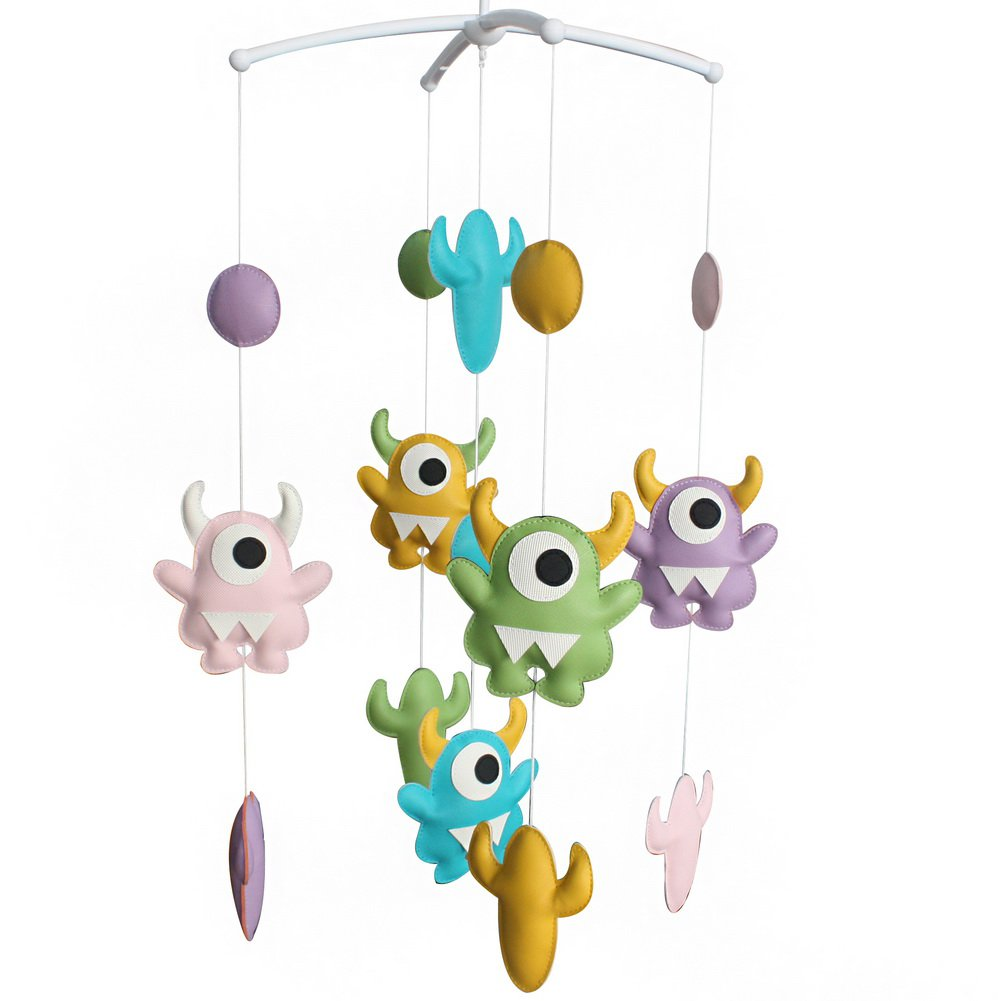 BC-BAB-ONIM0132-BELL-CELI [Monster Style] Creative Nursery Rotatable Musical Mobile Colorful Toys