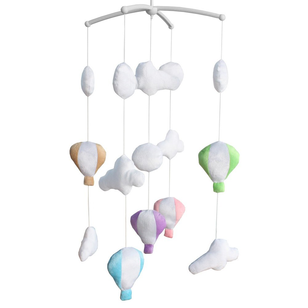BC-BAB-ONIM0139-BELL-CELI Handmade Plush Hanging Toys [Hot-air Balloon] Exquisite Baby Crib Bed Bell