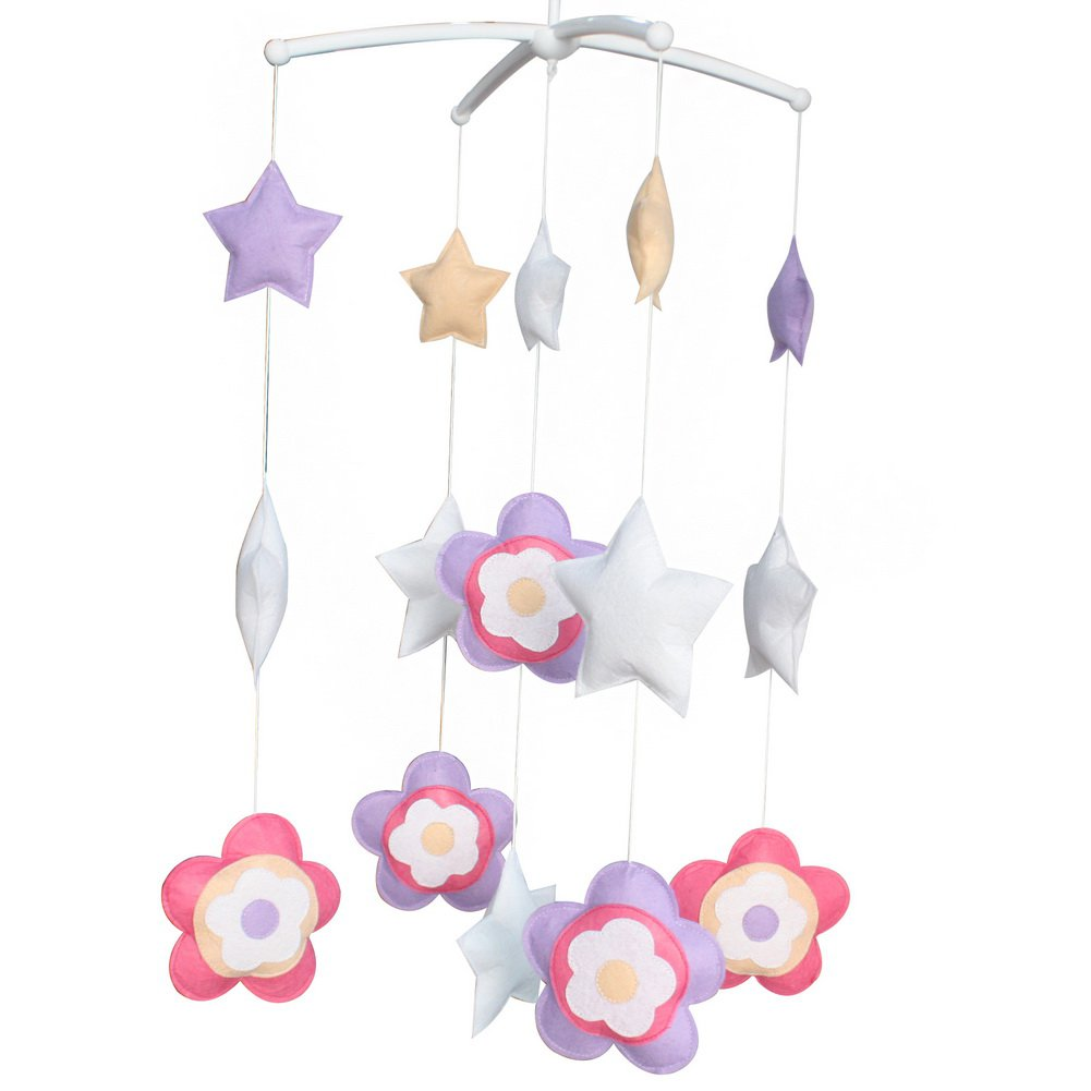 BC-BAB-ONIM0140-BELL-CELI Pretty Hanging Toys Exquisite Baby Crib Bed Bell [Blooming Flowers]