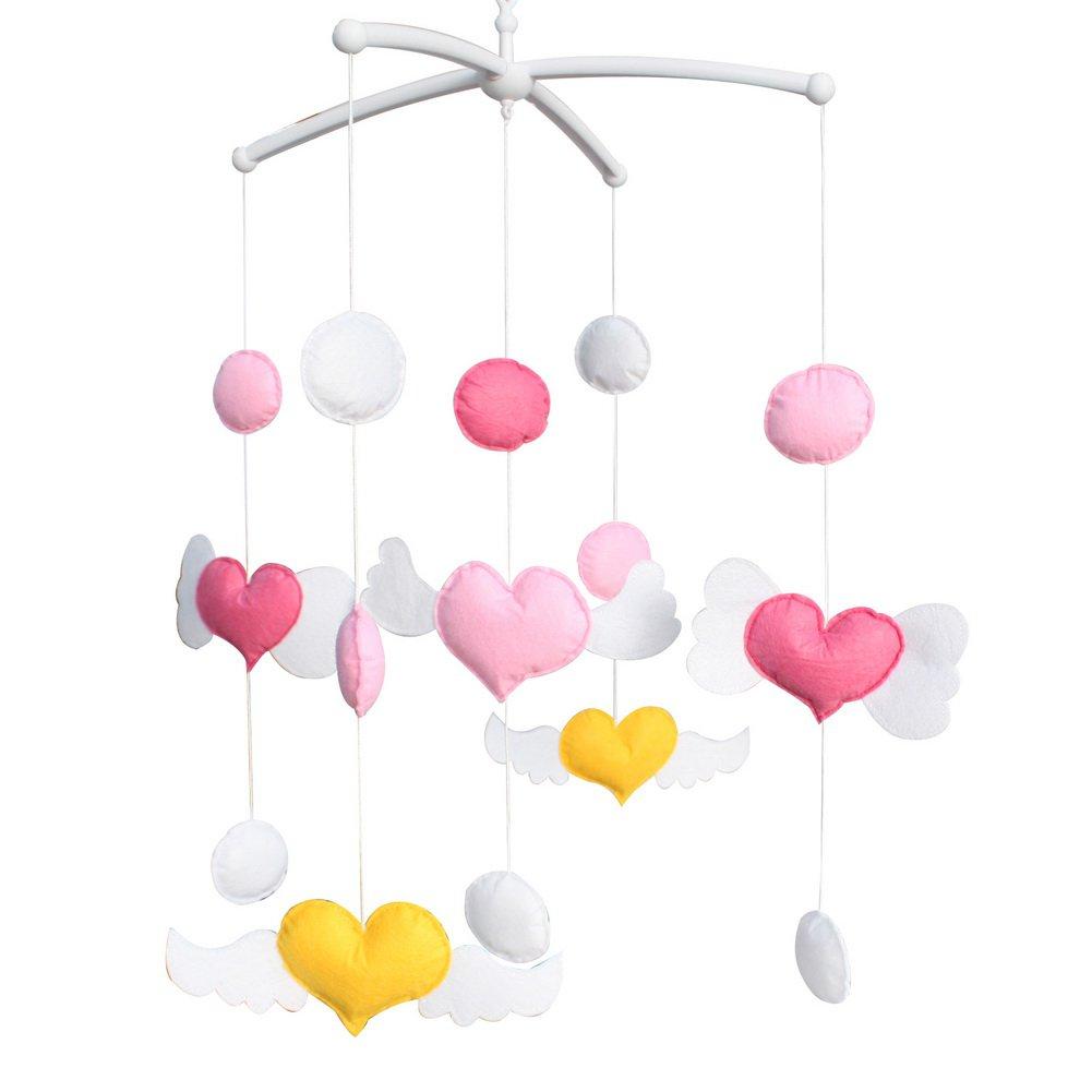 BC-BAB-ONIM0148-WING-CELI Colorful Baby Toys [Sweetheart] Baby Crib Rotatable Musical Mobile