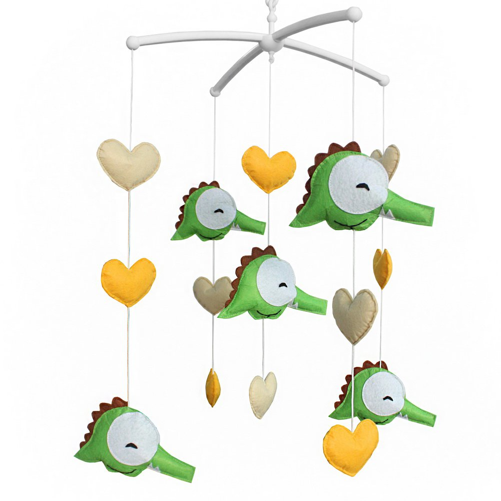 BC-BAB-ONIM0156-WING-CELI Cute Baby Musical Mobile with Crocodile Nursery Crib Musical Mobile