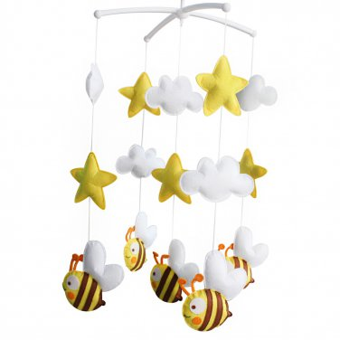 BC-BAB-ONIM0166-BELL-CELI [Cute Bee] Exquisite Hanging Toys - Crib Decoration Musical Mobile
