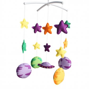 BC-BAB-ONIM0169-BELL-CELI [The vast universe] Exquisite Crib Decoration - Rotatable Crib Musical Mob