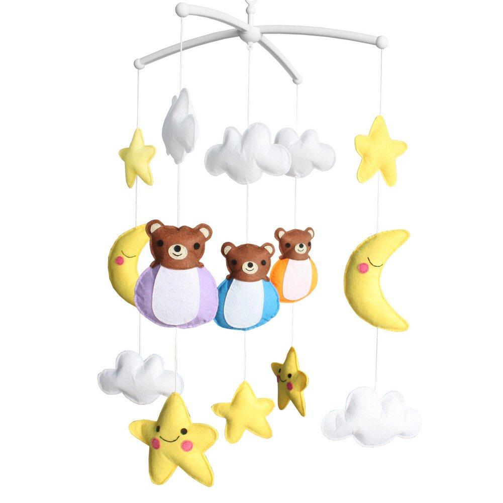 BC-BAB-ONIM0170-BELL-CELI [Baby Bear] Creative Crib Rotatable Musical Mobile - Handmade Toys