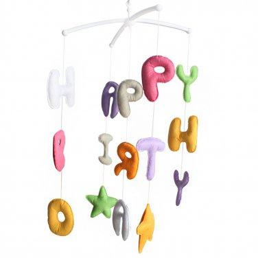 BC-BAB-ONIM0172-BELL-CELI Crib Stroller Mobile - Baby Bedding Musical Mobile [Happy Birthday]