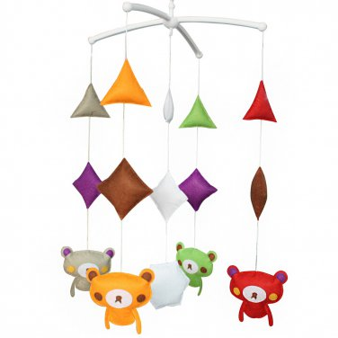 BC-BAB-ONIM0177-BELL-CELI Cute Music Box Toy, Crib Decor Mobile - Baby Musical Mobile [Cartoon Bear]