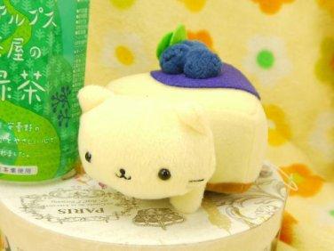 San-X Nyan Nyan Nyanko Blueberry Cheesecake Plush