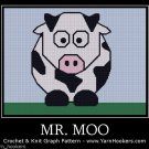 Mr. Moo - Afghan Crochet Graph Pattern Chart