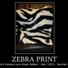 Zebra Animal Print Stripes - Afghan Crochet Graph Pattern Chart