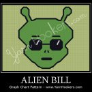 Alien Bill - Afghan Crochet Graph Pattern Chart