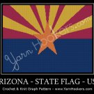 Arizona - State Flag - USA - Afghan Crochet Graph Pattern Chart
