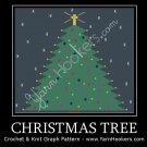 Christmas Tree -  Afghan Crochet Graph Pattern Chart
