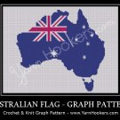 Australian Shape National Flag - Afghan Crochet Graph Pattern Chart