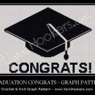 Graduation Congrats - Afghan Crochet Graph Pattern Chart