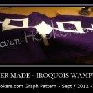 Iroquois Wampum Belt - Afghan Crochet Graph Pattern Chart