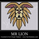 Mr. LION - Afghan Crochet Graph Pattern Chart