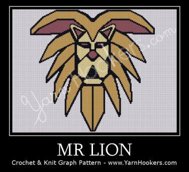 Mr. LION - Afghan Crochet Graph Pattern Chart