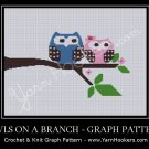 Owls On A Branch - Afghan Crochet Graph Pattern Chart
