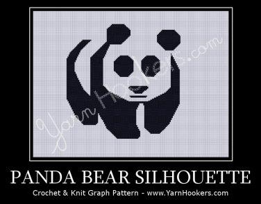 Panda Bear - Afghan Crochet Graph Pattern Chart