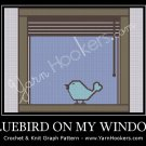 Bluebird on My Window - Afghan Crochet Graph Pattern Chart