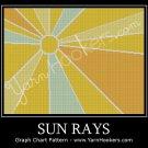 Sun Rays - Afghan Crochet Graph Pattern Chart