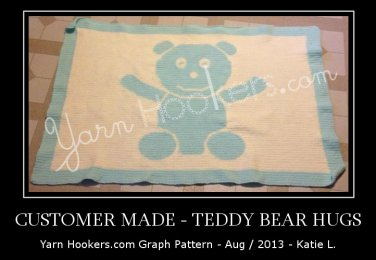 Teddy Bear Hugs - Afghan Crochet Graph Pattern Chart