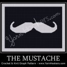 The Mustache - Afghan Crochet Graph Pattern Chart